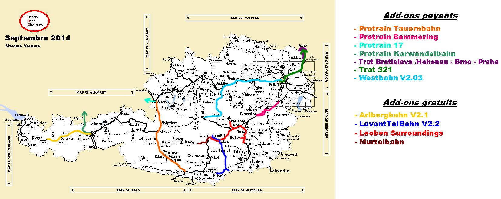 Carte d'Autriche - Activitysimulatorworld.net